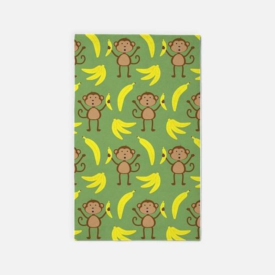 monkey banana 3'x5' Area Rug