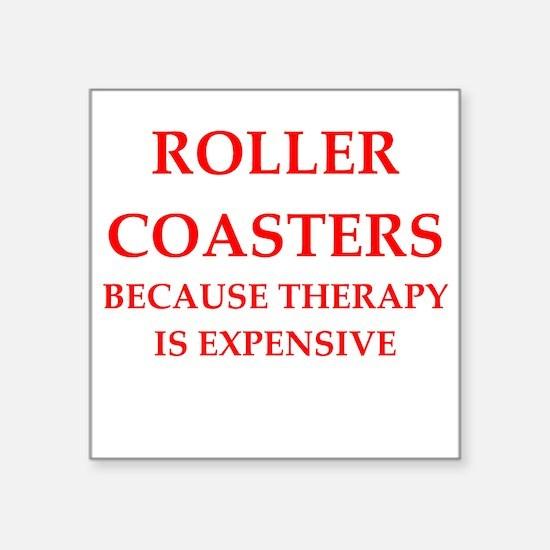 """roller coaster Square Sticker 3"""" x 3"""""""