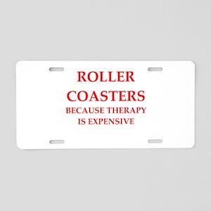 roller coaster Aluminum License Plate