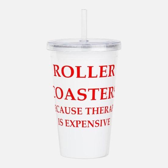 roller coaster Acrylic Double-wall Tumbler