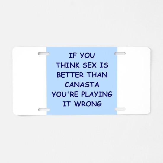 canasta Aluminum License Plate
