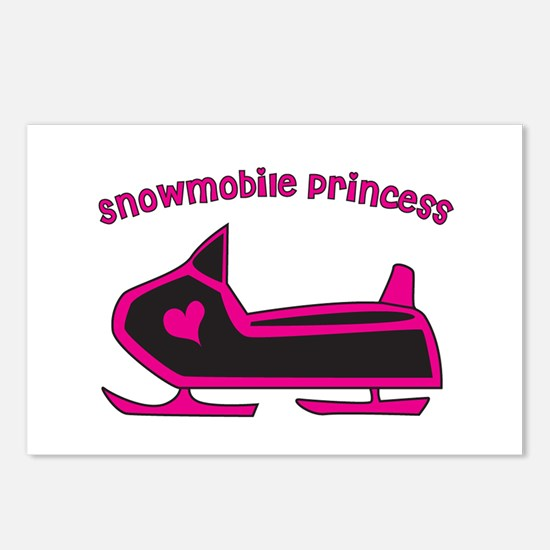 Snowmobile Princess Postcards (Package of 8)