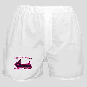 Snowmobile Princess Boxer Shorts
