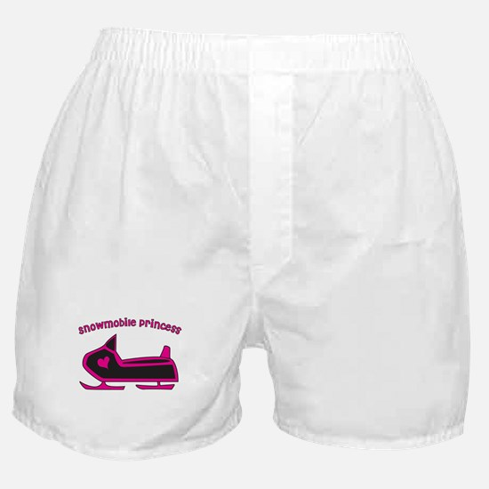 Snowmobile Princess Boxer Shorts