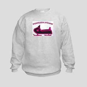 Snowmobile Princess Kids Sweatshirt