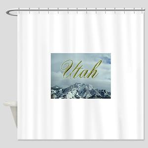 MountainPhotosWideUtah Shower Curtain