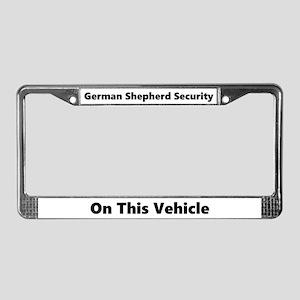 German Shepherd Security License Plate Frame