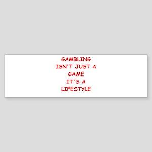 gambling Sticker (Bumper)