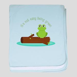 Not Easy Being Green baby blanket
