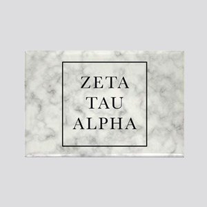 Zeta Tau Alpha Marble FB Rectangle Magnet