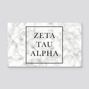Zeta Tau Alpha Marble FB Rectangle Car Magnet