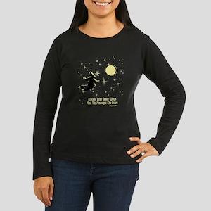 Flying Witch Women's Dark Long Sleeve T-Shirt