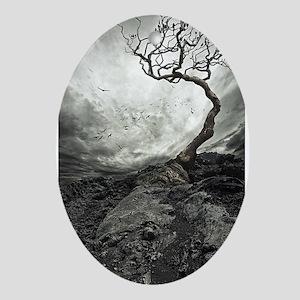 Dark Tree Ornament (Oval)