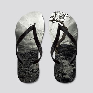 Dark Tree Flip Flops