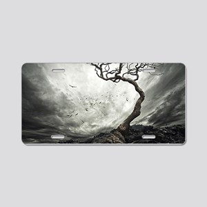 Dark Tree Aluminum License Plate