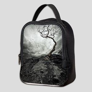 Dark Tree Neoprene Lunch Bag