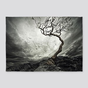 Dark Tree 5'x7'Area Rug