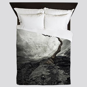 Dark Tree Queen Duvet