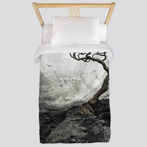 Dark Tree Twin Duvet