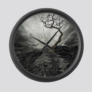 Dark Tree Large Wall Clock