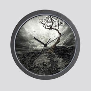 Dark Tree Wall Clock