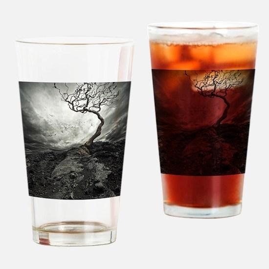 Dark Tree Drinking Glass