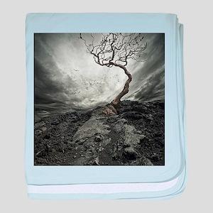 Dark Tree baby blanket