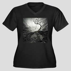 Dark Tree Plus Size T-Shirt