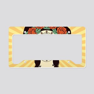 Day of the Dead License Plate Holder