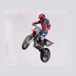 Red Dirt Bike Throw Blanket