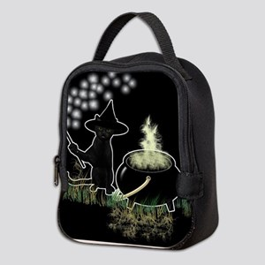 Black Cat Witch Neoprene Lunch Bag