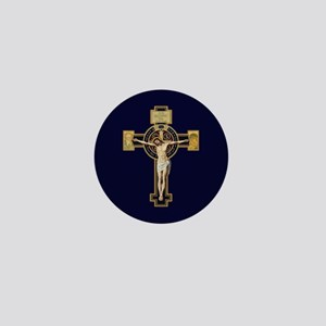 Benedictine Crucifix Mini Button