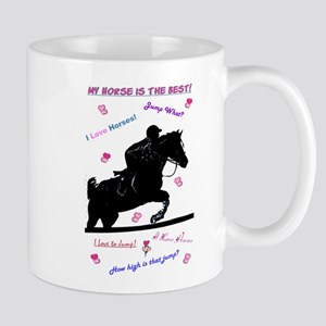 Pastel I Love Horses! Mugs