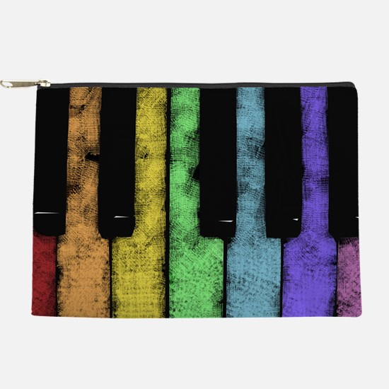 Rainbow Piano Makeup Pouch