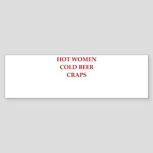 craps Sticker (Bumper)