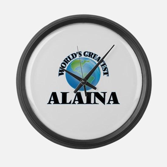 World's Greatest Alaina Large Wall Clock