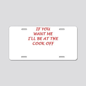 cook off Aluminum License Plate