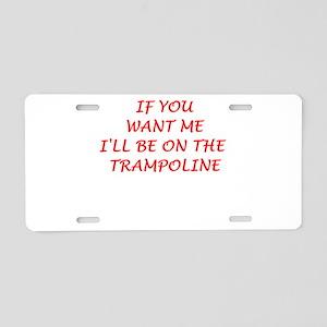 trampoline Aluminum License Plate