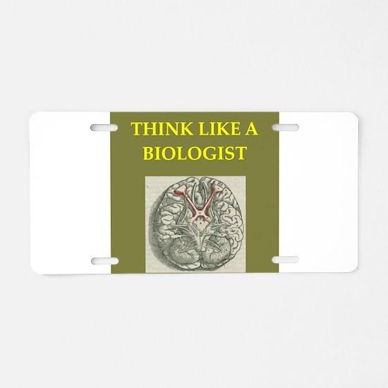 biologist Aluminum License Plate