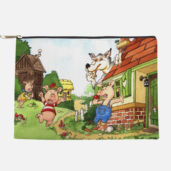 three-little-pigs Makeup Pouch