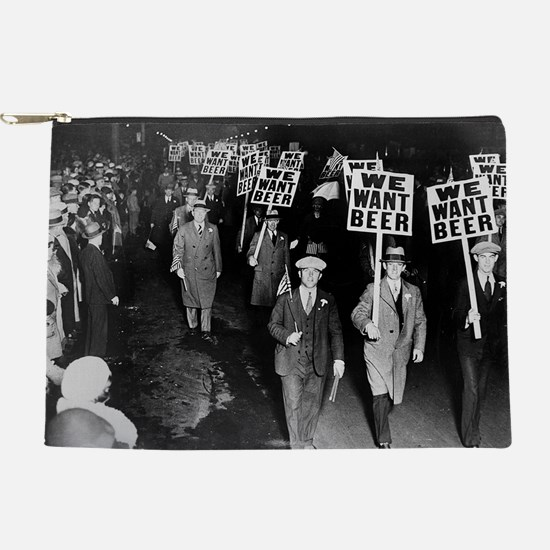 We Want Beer! Prohibition Protest, 19 Makeup Pouch