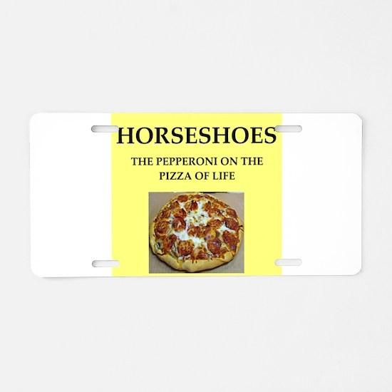 horseshoes Aluminum License Plate