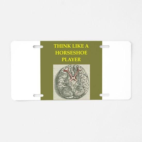 horseshoe Aluminum License Plate