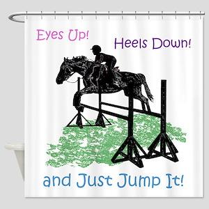 Fun Hunter/Jumper Equestrian Horse Shower Curtain