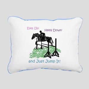 Fun Hunter/Jumper Equest Rectangular Canvas Pillow