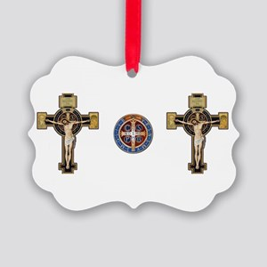 Benedictine Crucifix and Medal Ornament