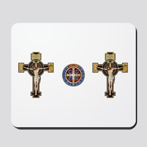 Benedictine Crucifix and Medal Mousepad