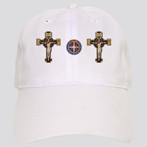 Benedictine Crucifix and Medal Baseball Cap