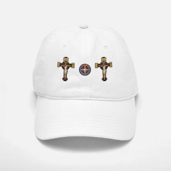 Benedictine Crucifix and Medal Baseball Baseball Baseball Cap