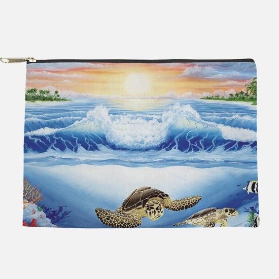 turtles world large Makeup Pouch